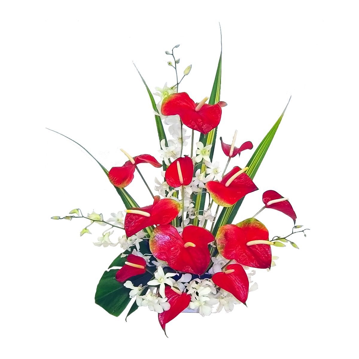 Lava fountain hawaii flower. Heart clipart bouquet