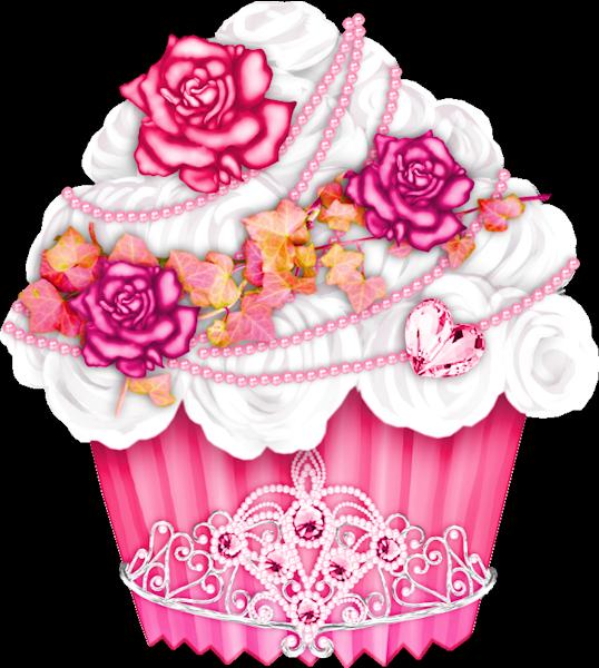 Gateaux tubes doces sorvetes. Flowers clipart cupcake
