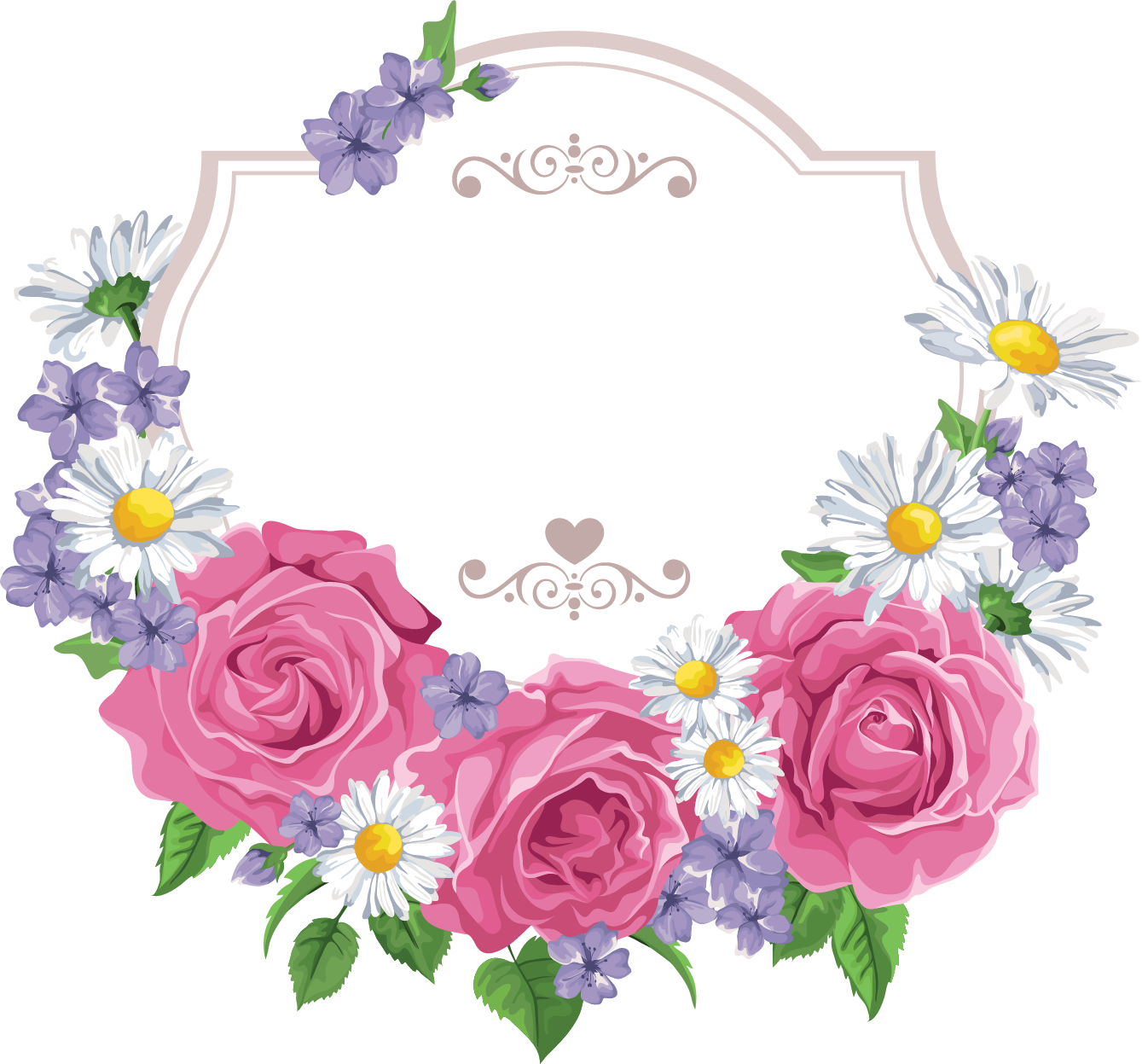 Floral clipart card, Floral card Transparent FREE for ...