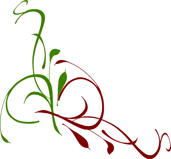Floral clipart christmas. Swirl clip art at