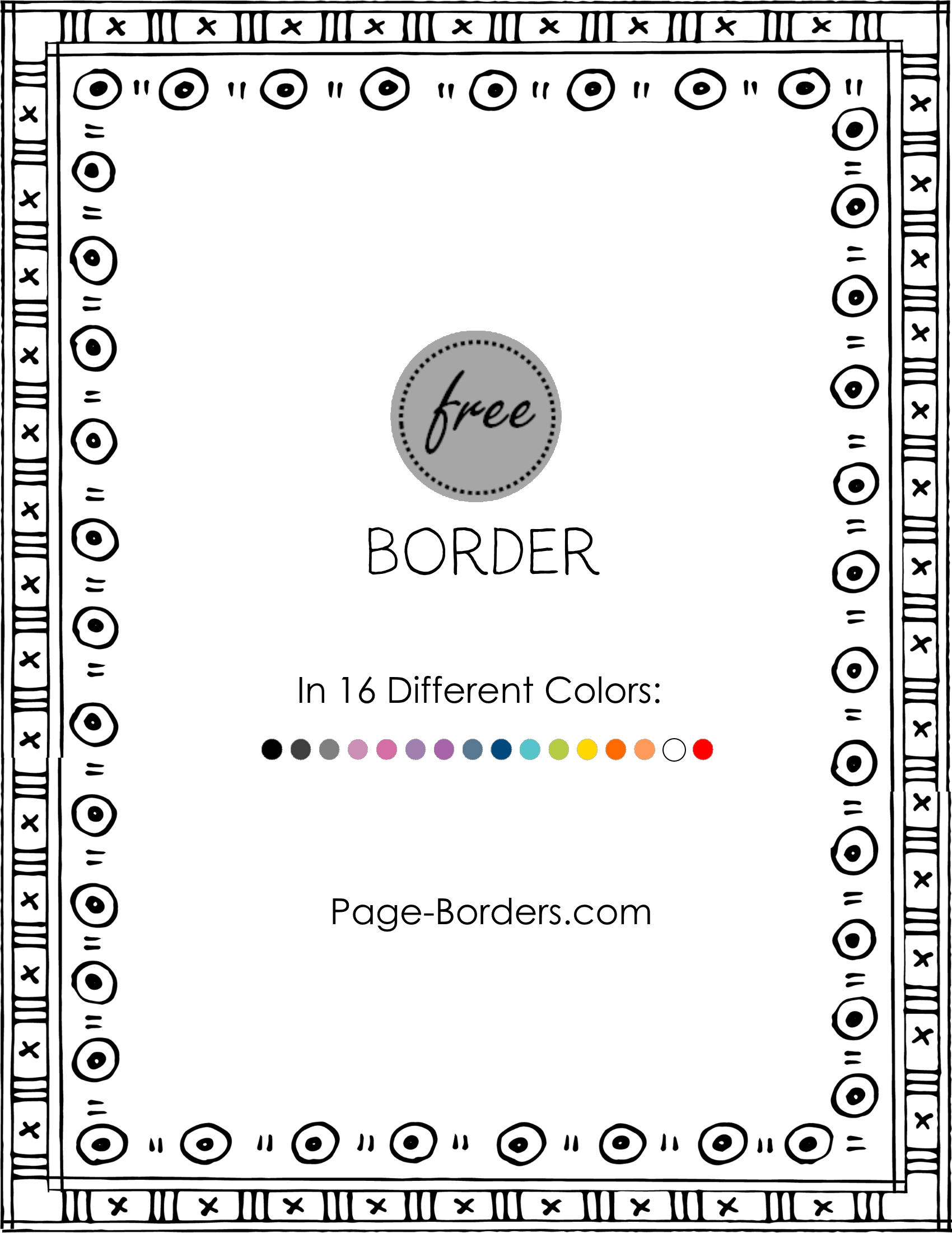Free customize online and. Doodle border png
