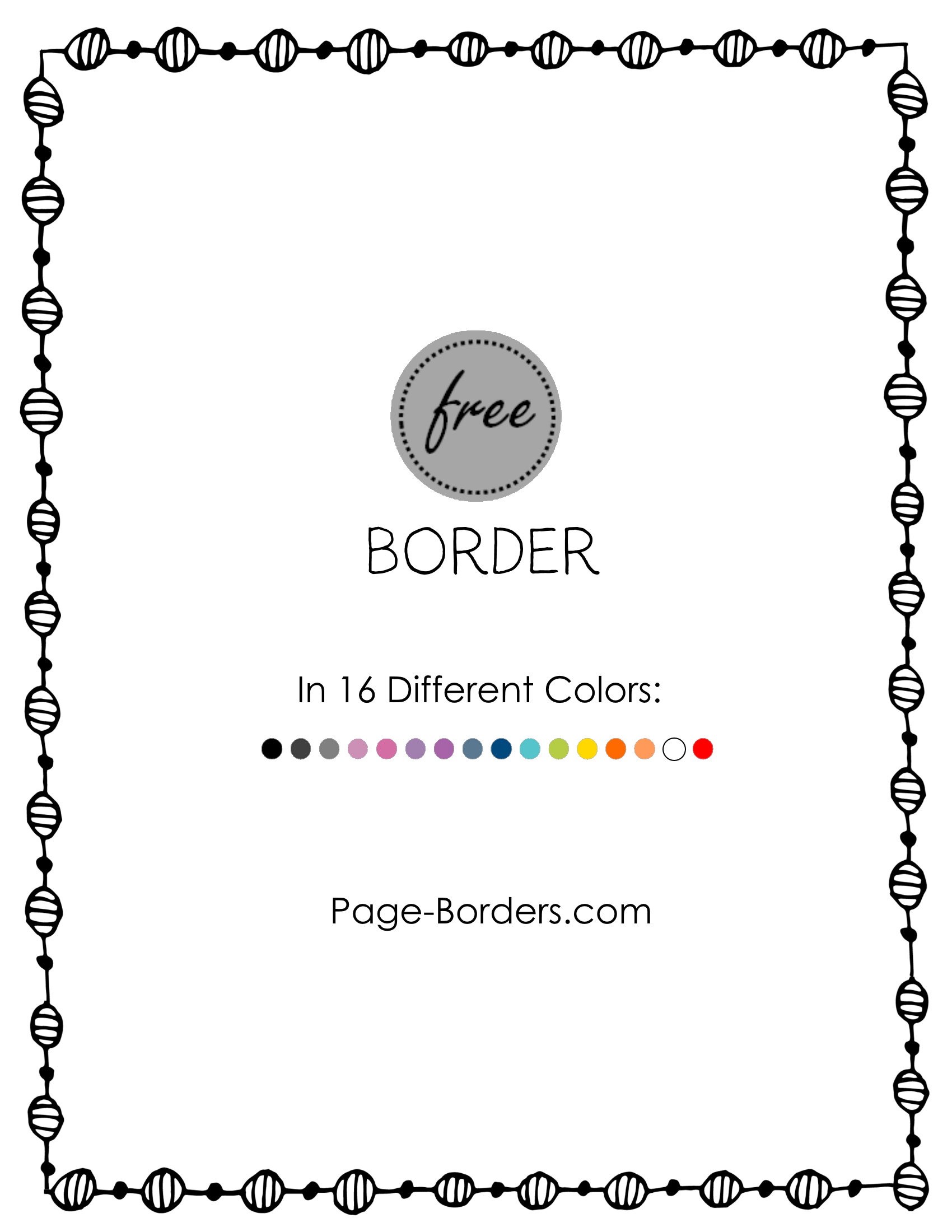 Square clipart doodle. Free border customize online