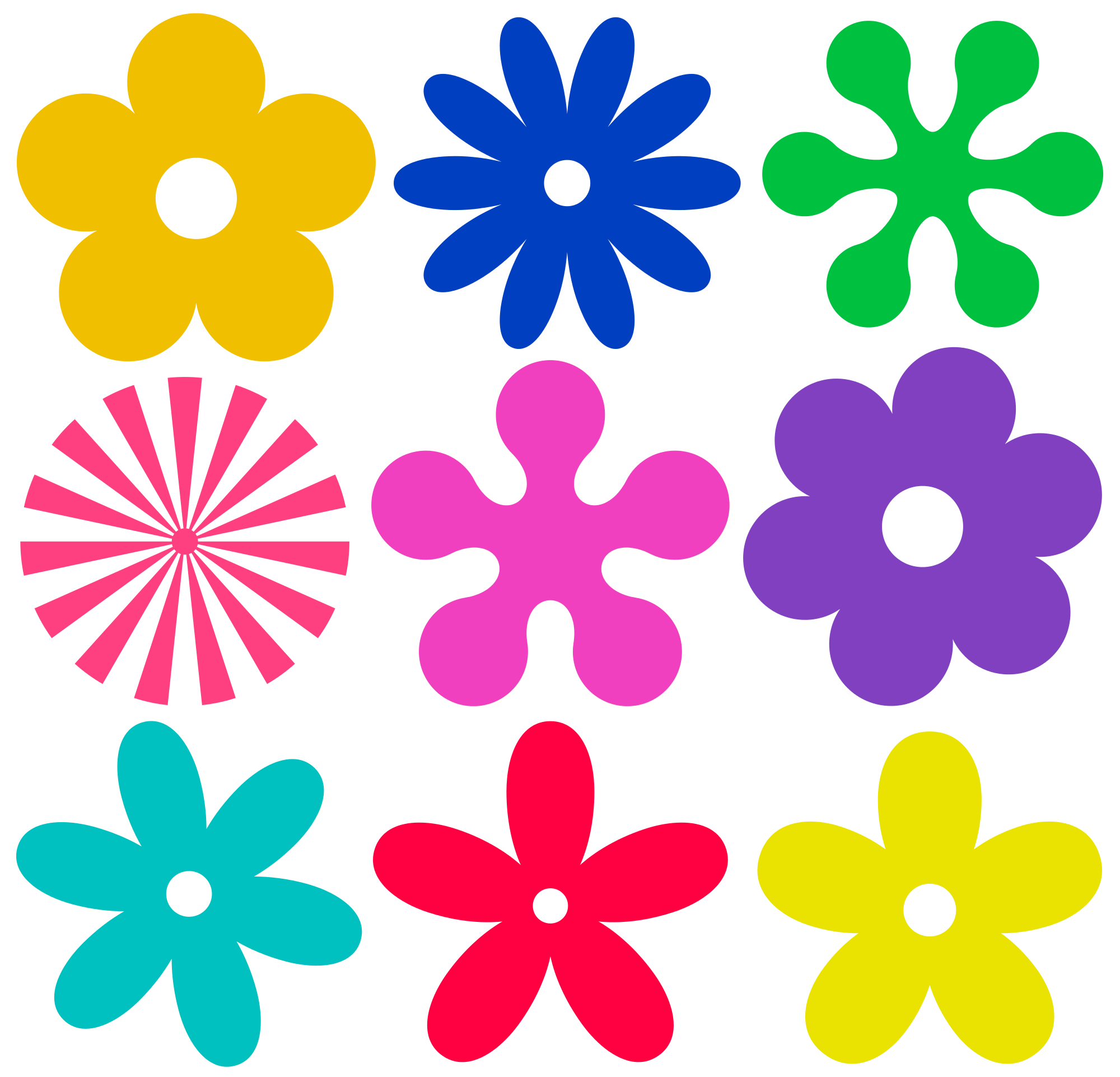 File retro flower ornaments. Flowers vector png
