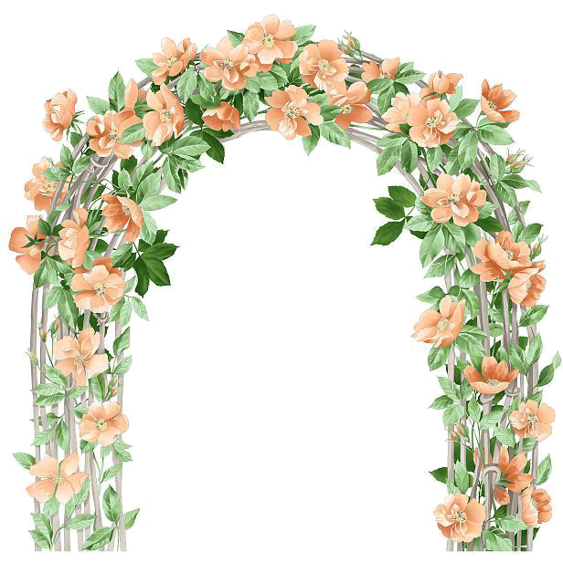 Floral clipart floral pattern. Flower arch design clip
