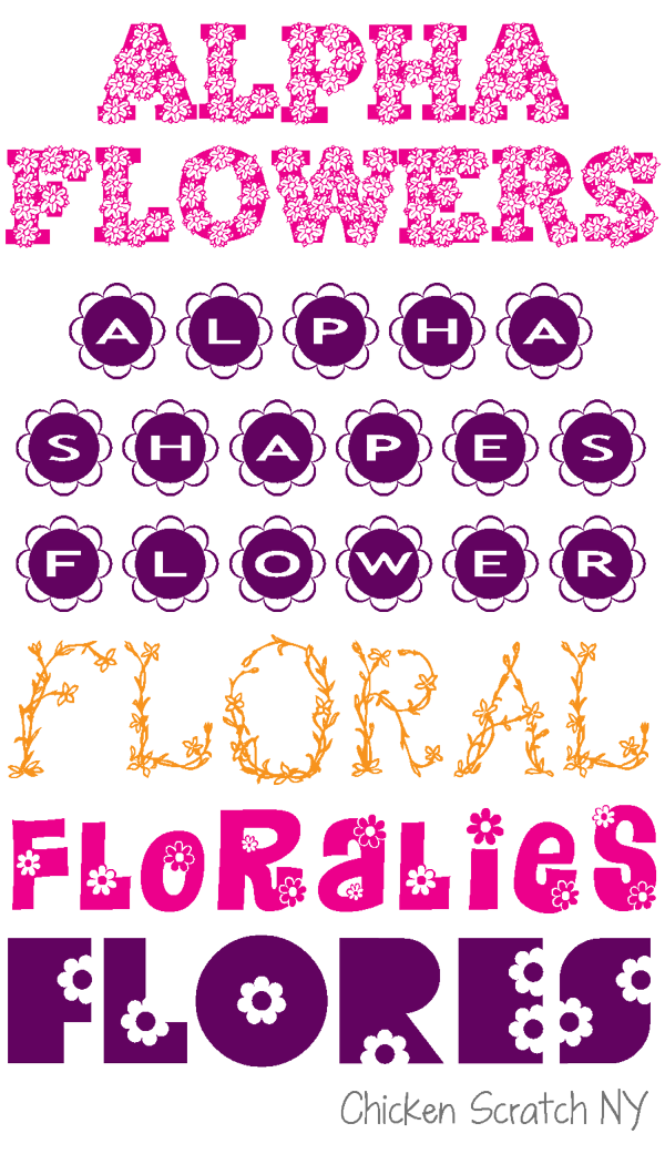 Floral clipart font. Fonts collection
