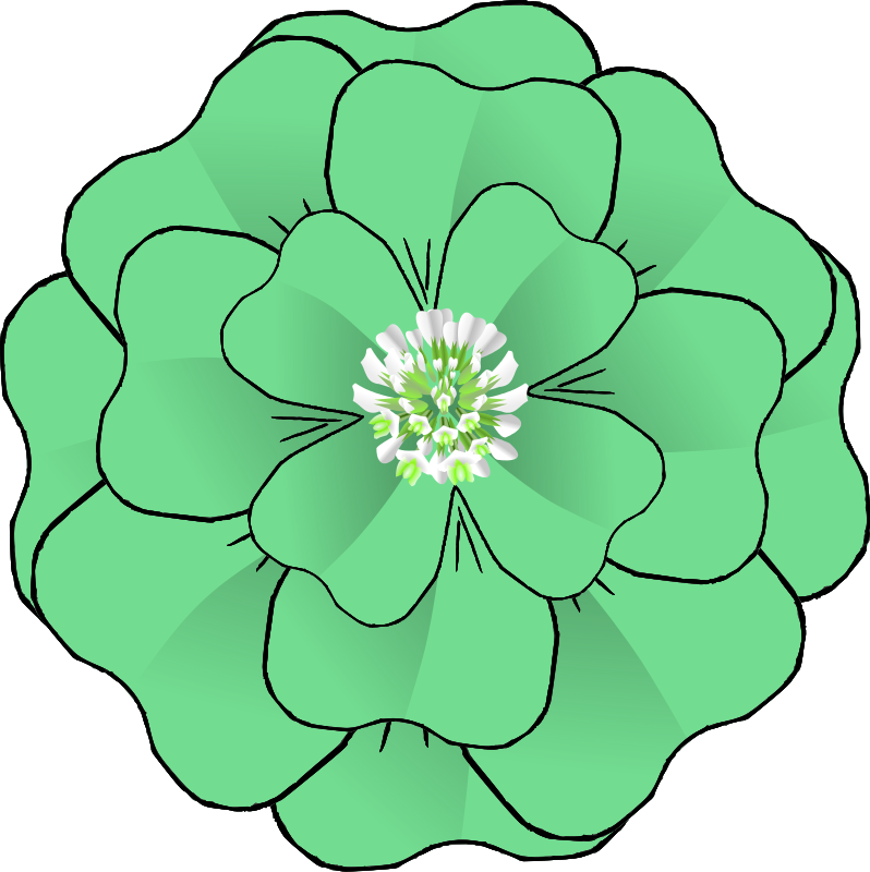 collection of flower. Floral clipart green