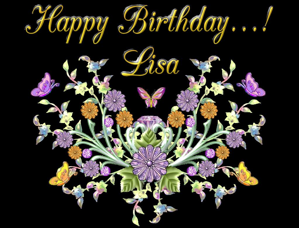 Lisa by creaciones jean. Flowers clipart happy birthday