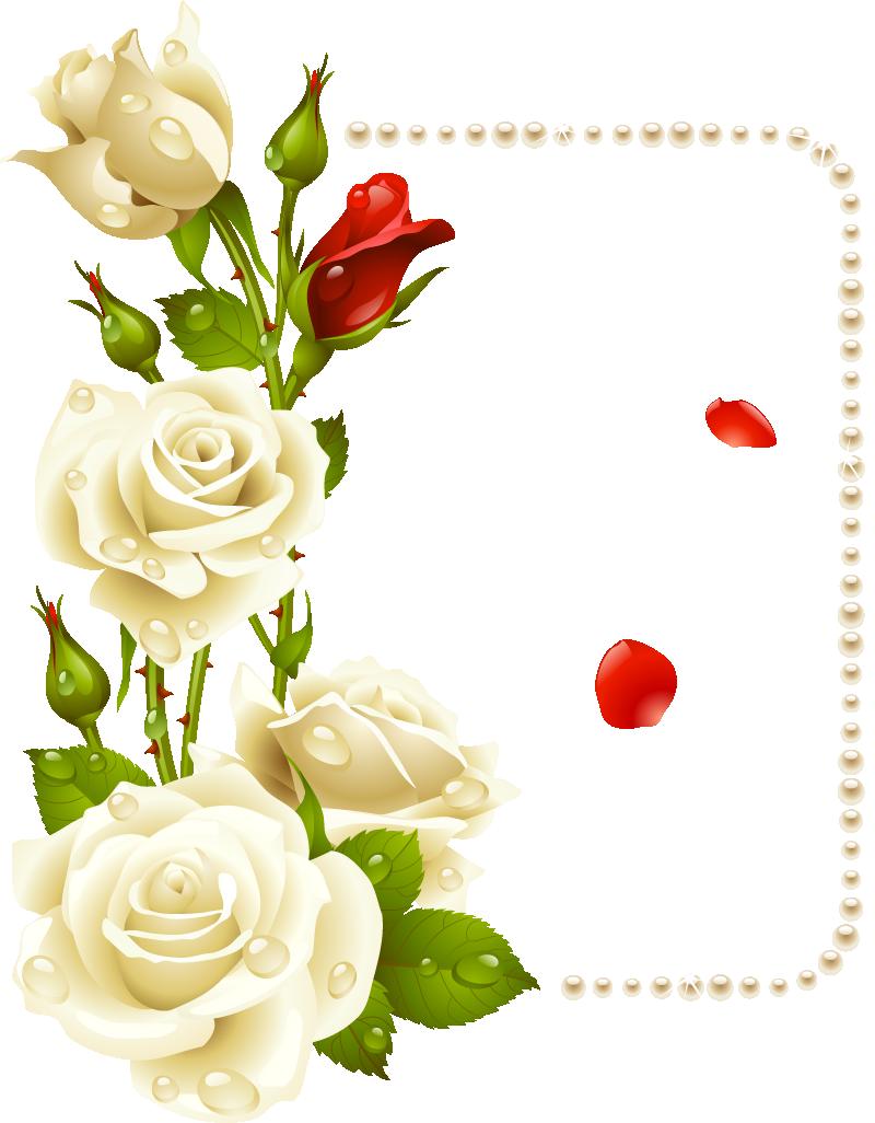 Flores p g aprender. Floral clipart label