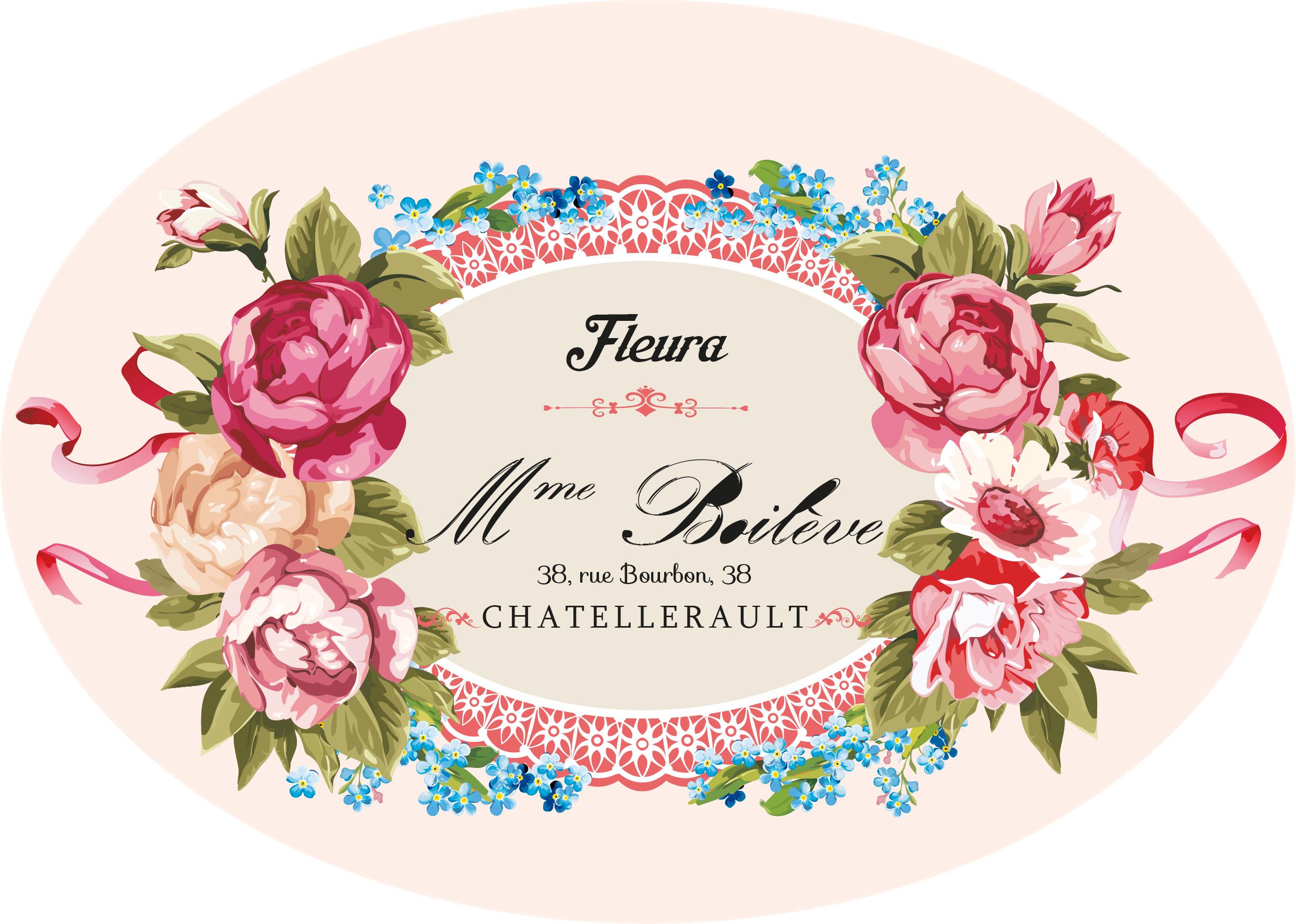 Floral clipart label. My design loral decoupage