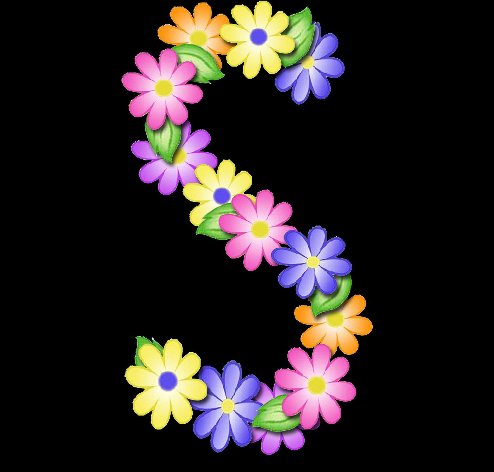 Floral clipart pastel. Alfabeto abc png letras