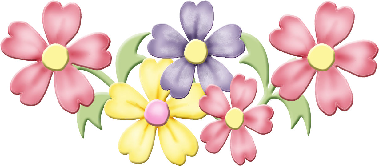 Buttons and bows babies. Floral clipart pastel