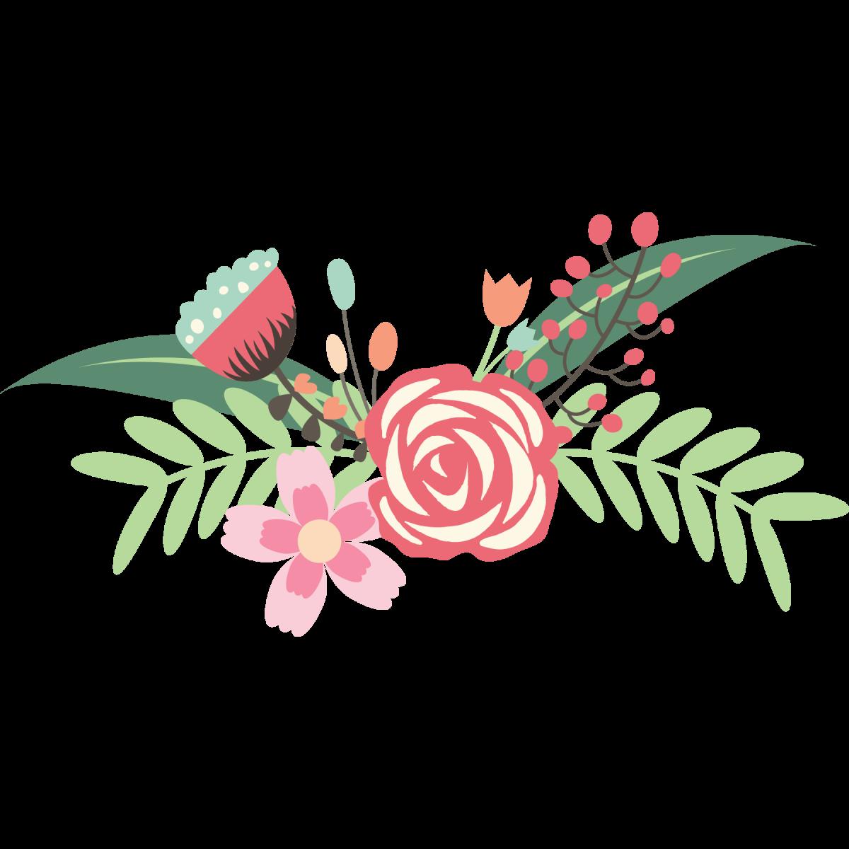 Floral clipart pastel. Flower bouquet design clip