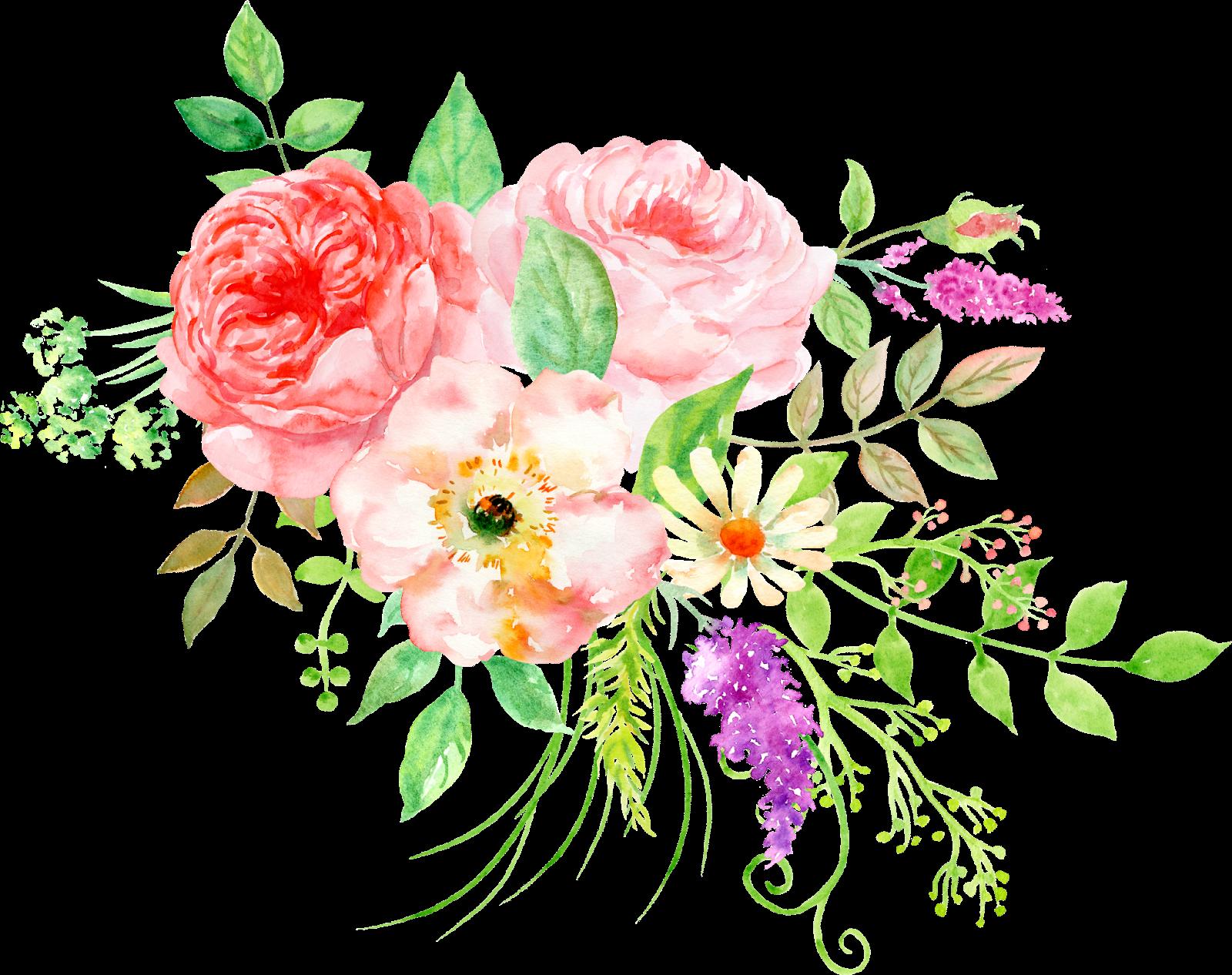 Pear clipart lukisan. Flower bouquet watercolor painting