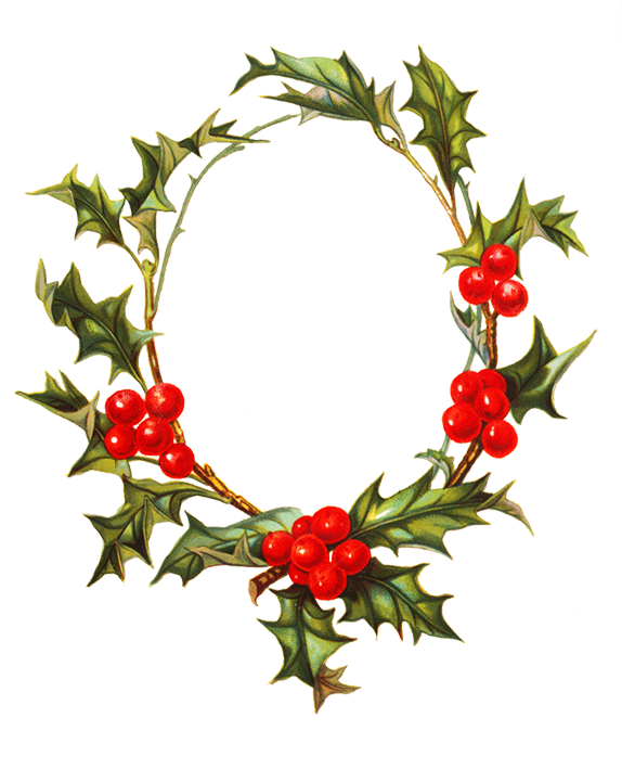 Holly clipart holy. Flower borders and frames