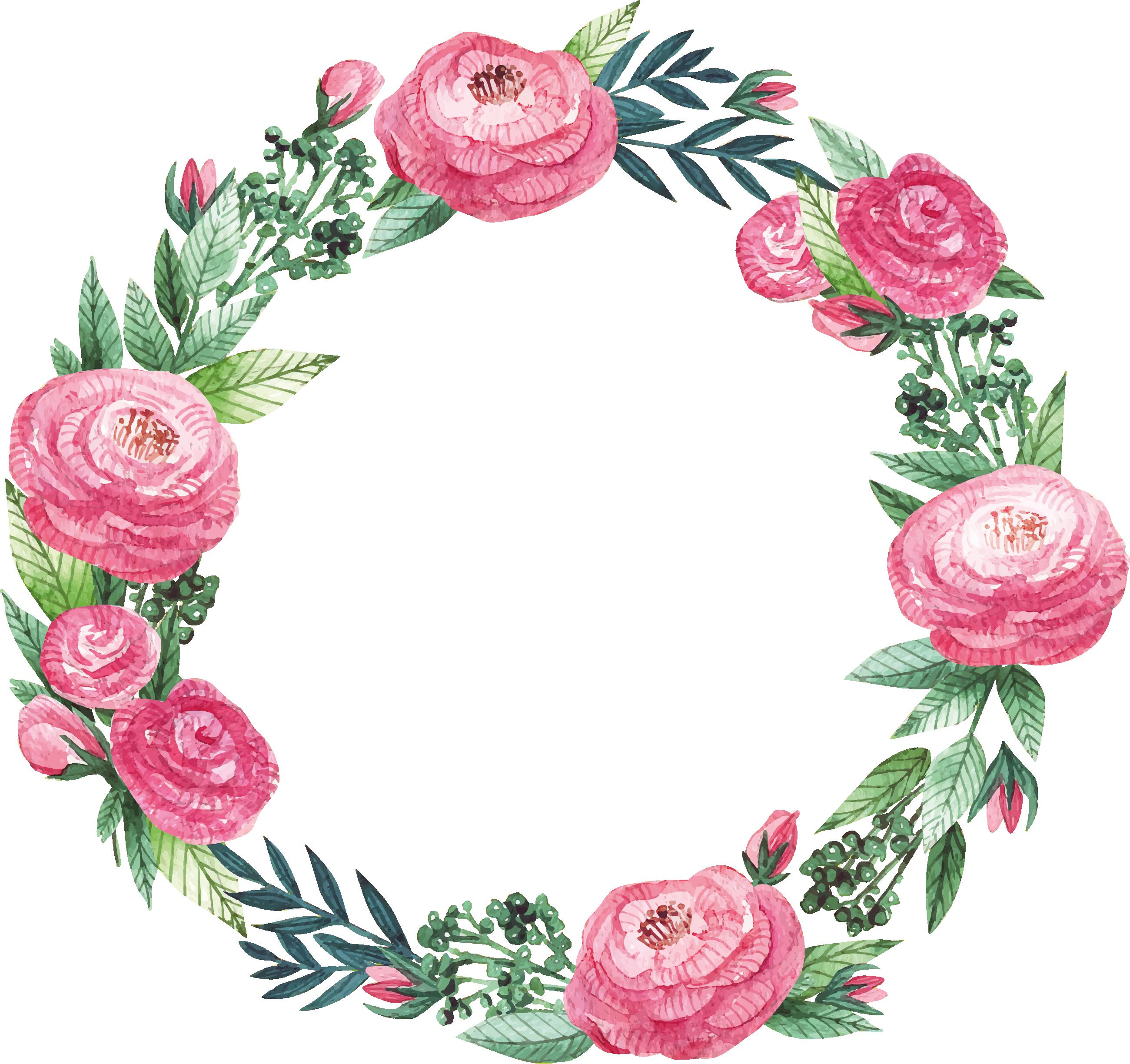 Floral frame png. Clipart il krg clip