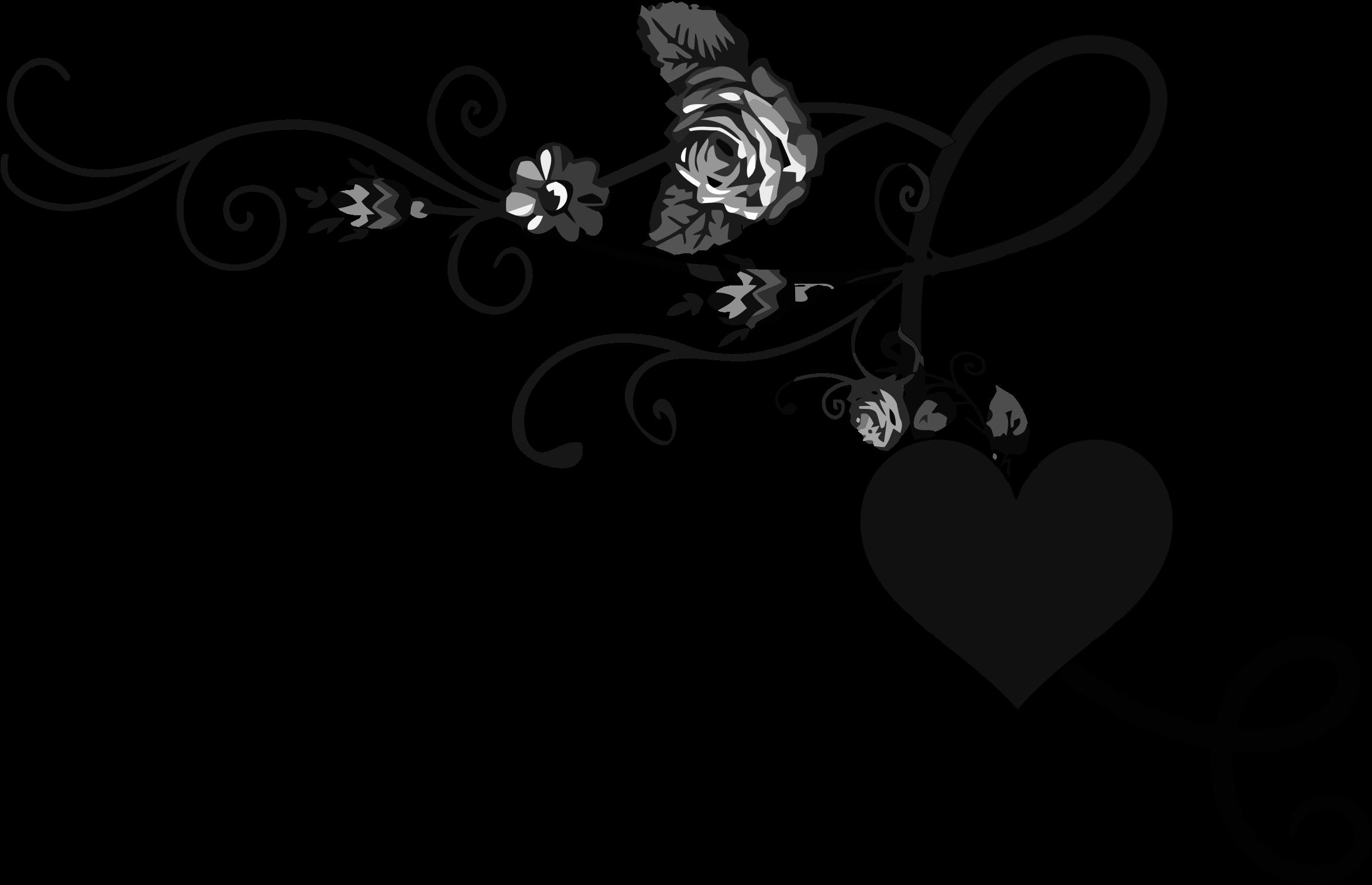 Floral clipart rose. Flourish big image png