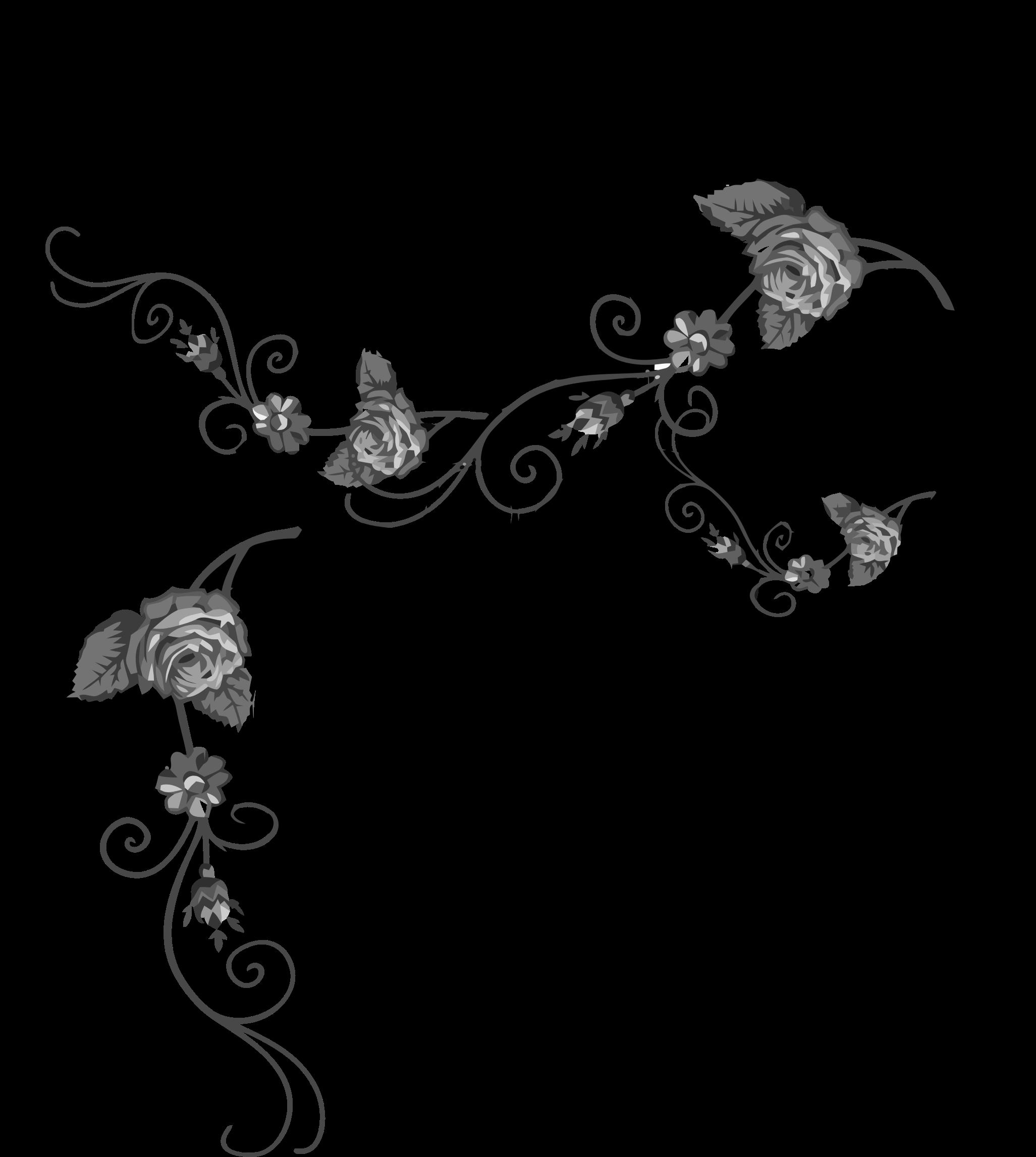 Flourish big image png. Floral clipart rose