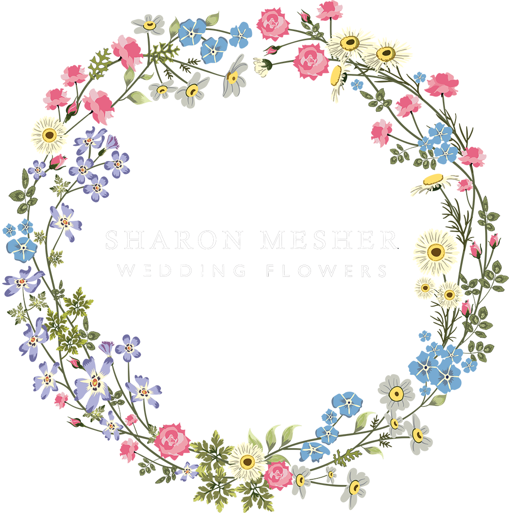 Sharon mesher wedding flowers. Flower circle png