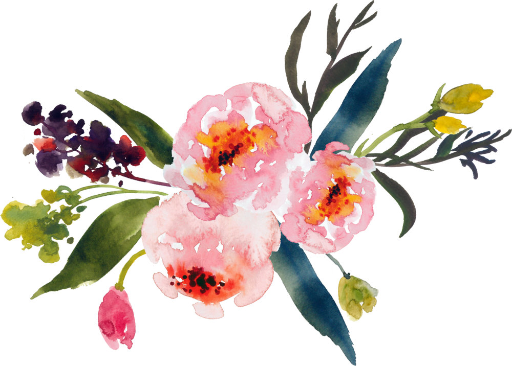 Pine state flowers north. Floral clipart rustic flower