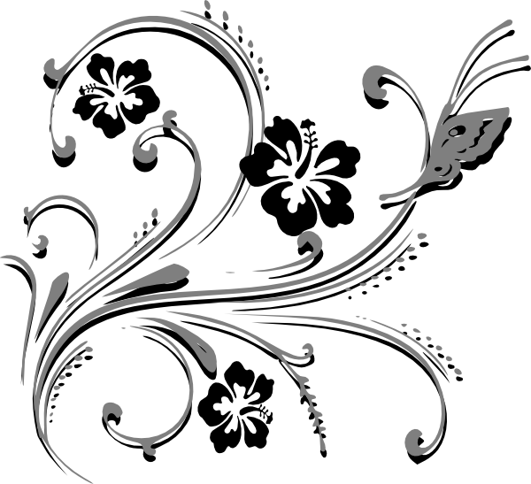 Scroll clipart ornamental. Butterfly clip art at