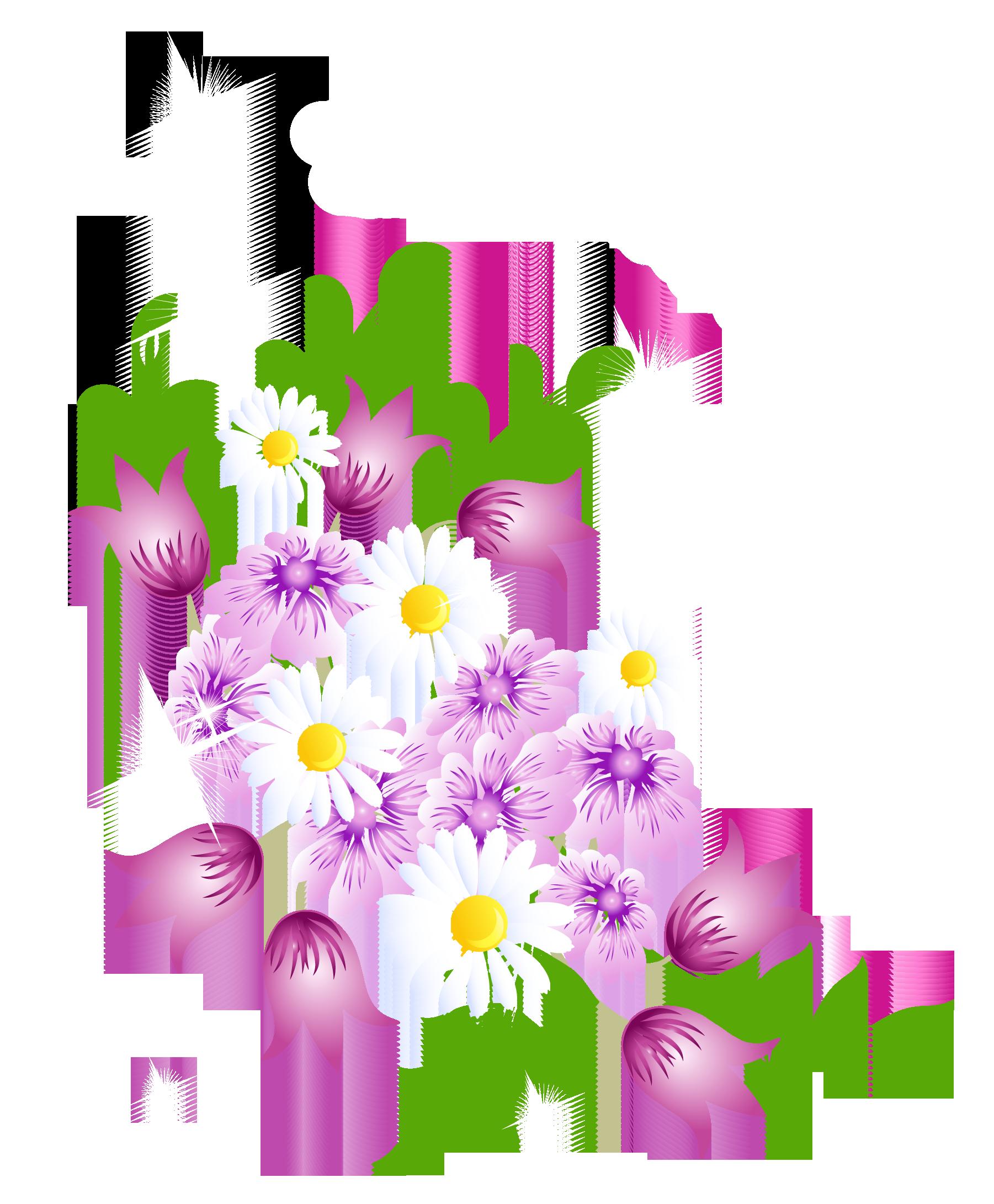 Floral clipart spring. Flower clip art flowers