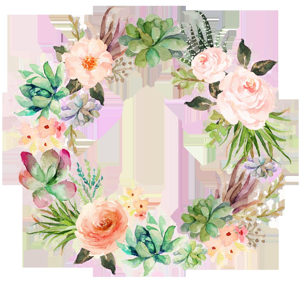 Floral clipart succulent. Wedding invitation paper watercolor