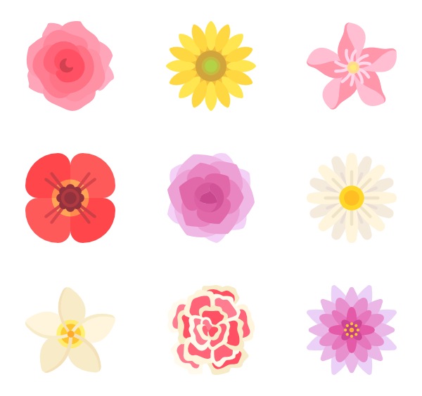 Flowers vector png. Flower icons free
