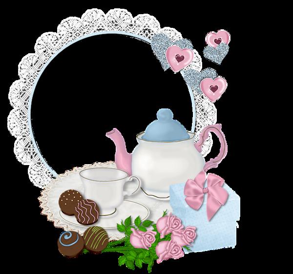 Floral clipart teacup. Frames frame rahmen quadro