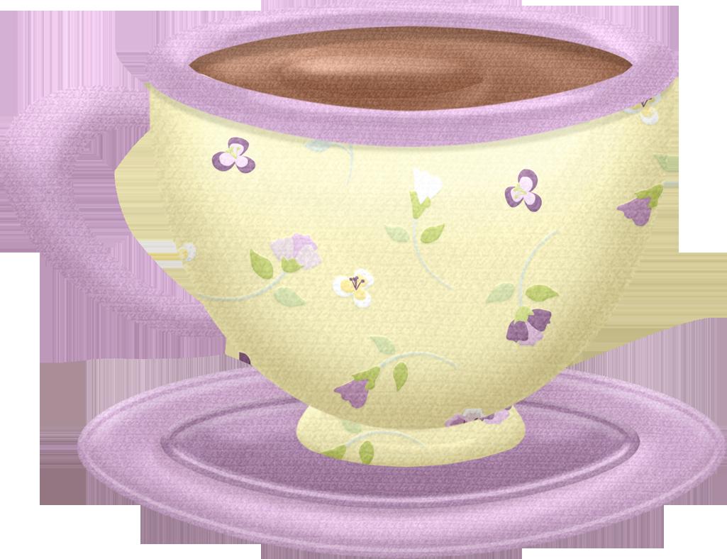 Floral clipart teacup. Tea cup saucer it