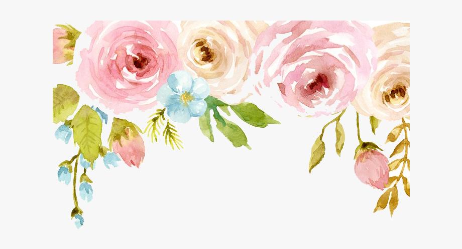 Watercolor flower clip art. Floral clipart transparent background