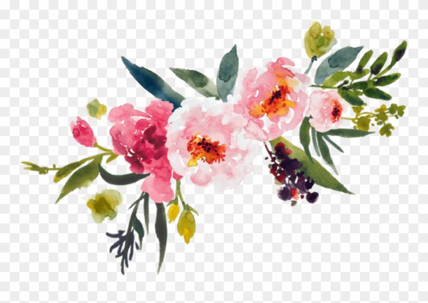 Painting flower bouquet clip. Floral clipart transparent background