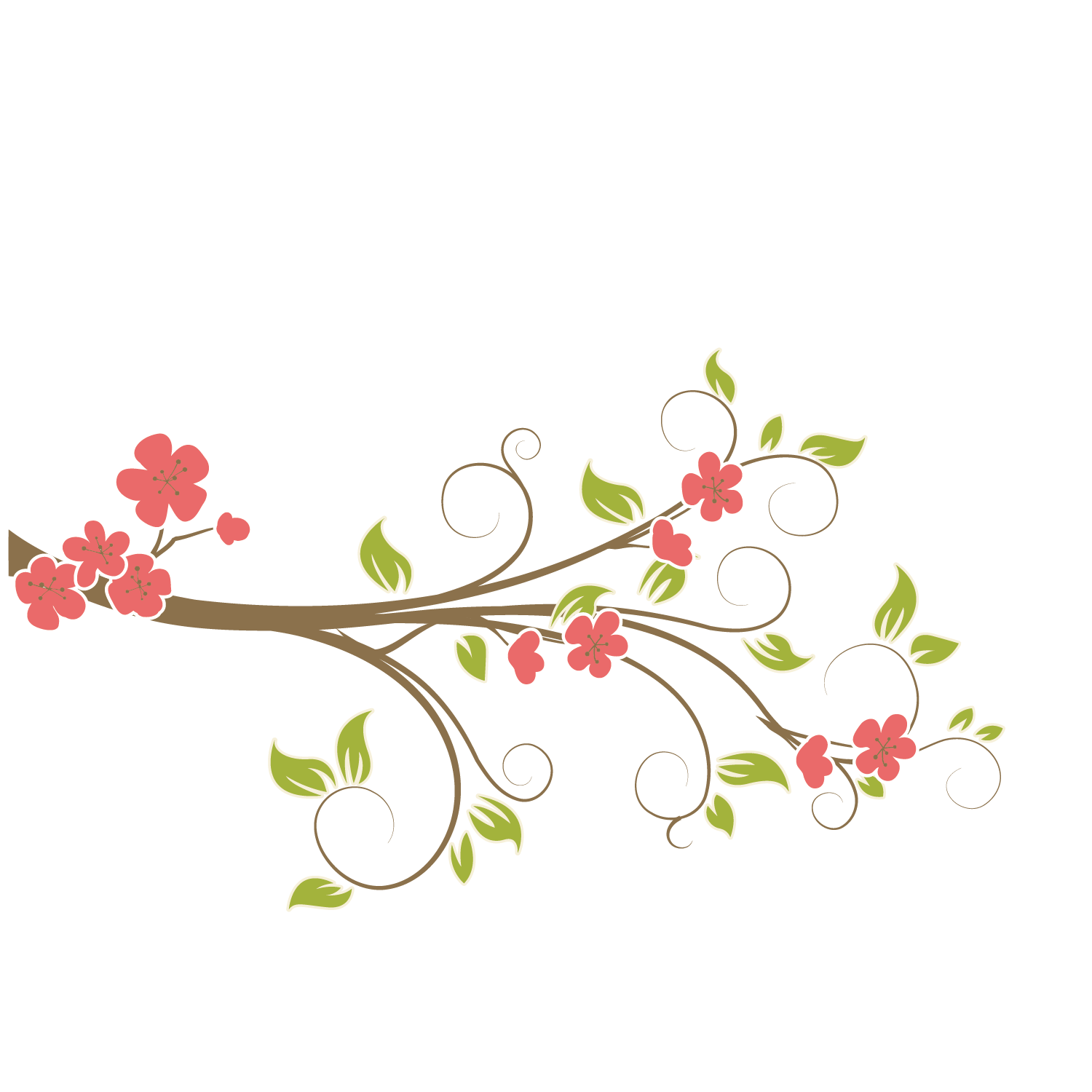 Vector plant vine branches. Flower vines png