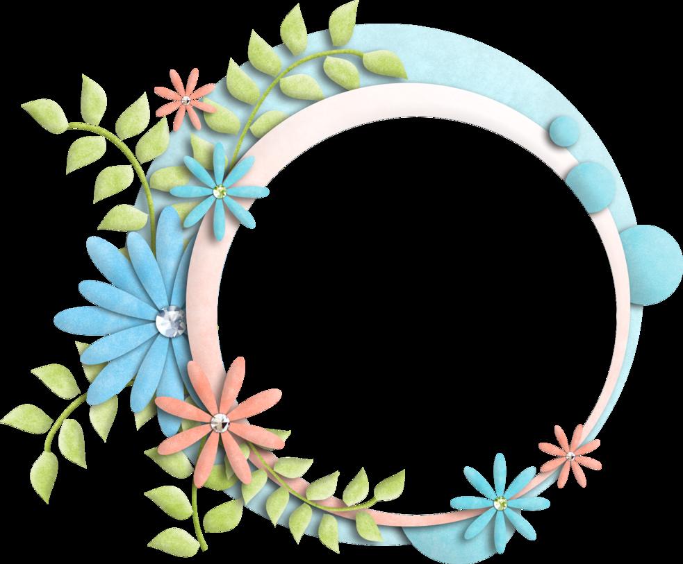 Floral frame png. By kwonnami on deviantart
