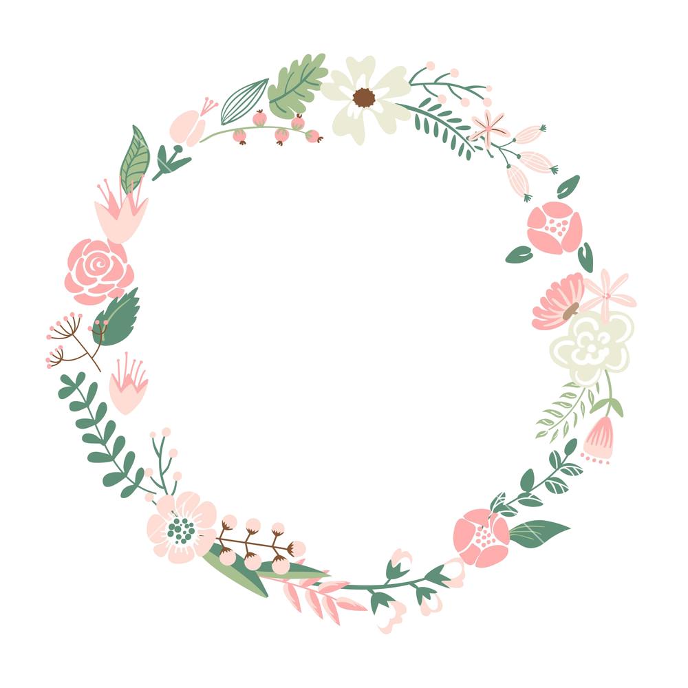 Transparent mart. Floral frame png