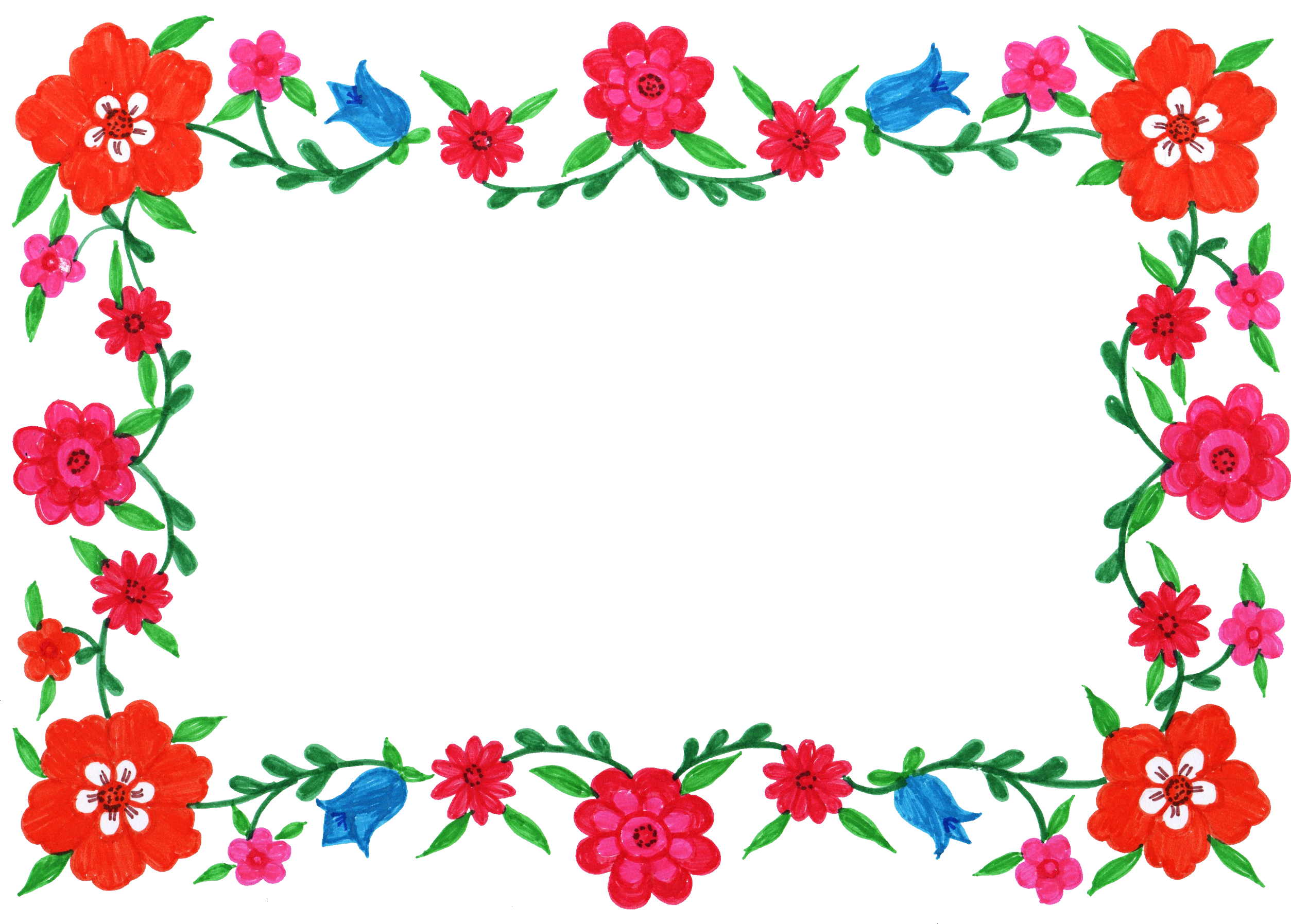 Floral Frame Png Floral Frame Png Transparent Free For Download