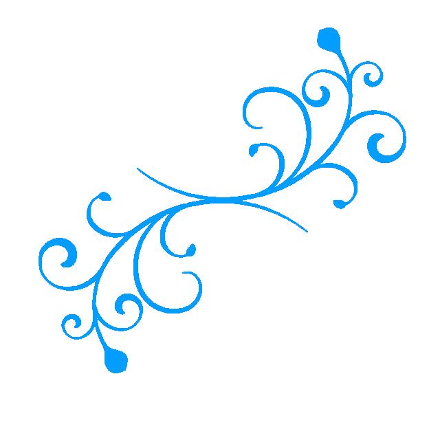 Dise o azul flor. Floral vector png