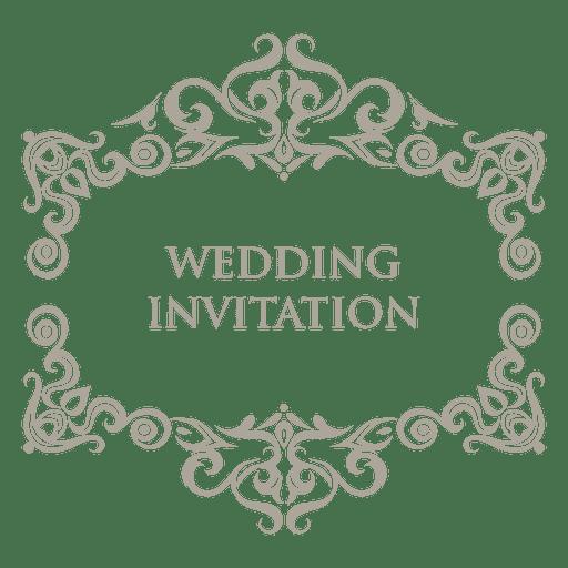 Floral vector png. Ornamented wedding badge transparent