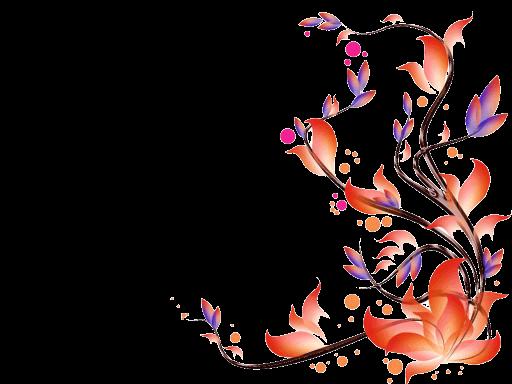 Flowers vectors transparent images. Floral vector png
