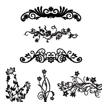 Ornaments images vectors and. Floral vector png