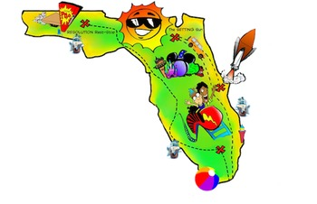 Free map by preptoon. Florida clipart