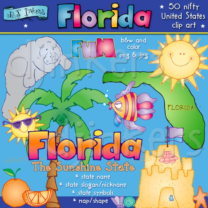 Florida clipart. Fun clip art for