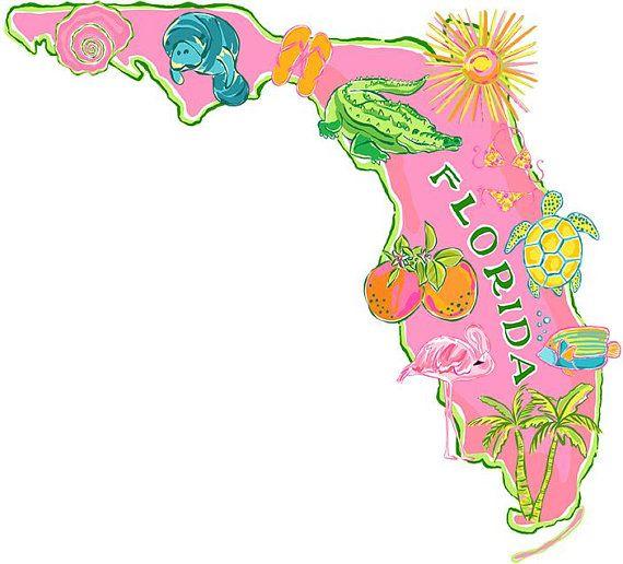 Instant download clip art. Florida clipart
