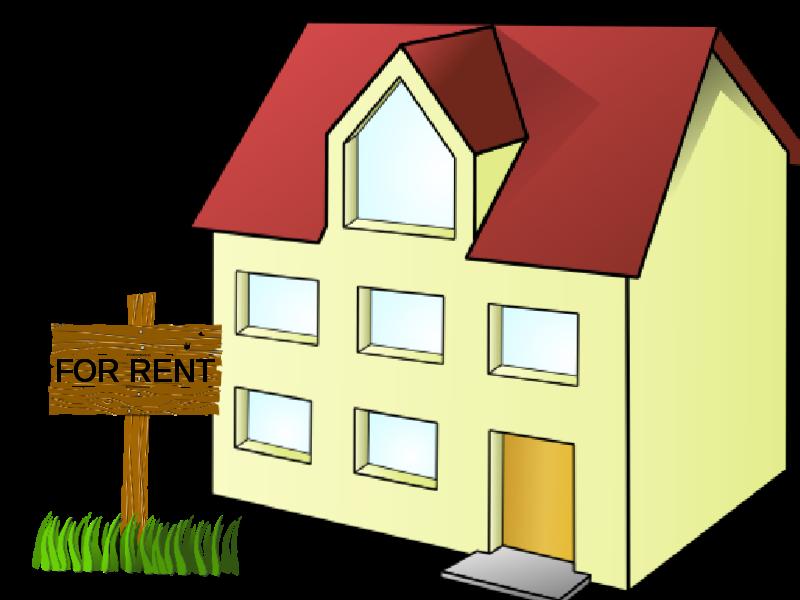 Landlord tenant public domain. House clipart animation