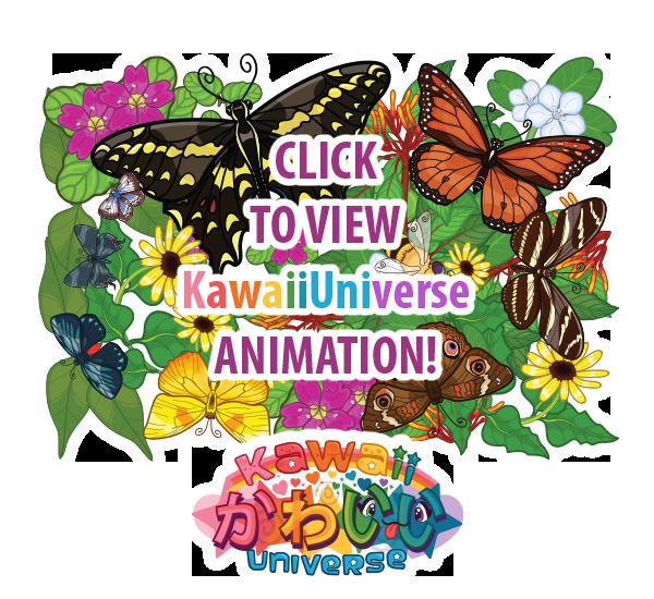 Kawaii butterflies by kawaiiuniversestudio. Florida clipart animation