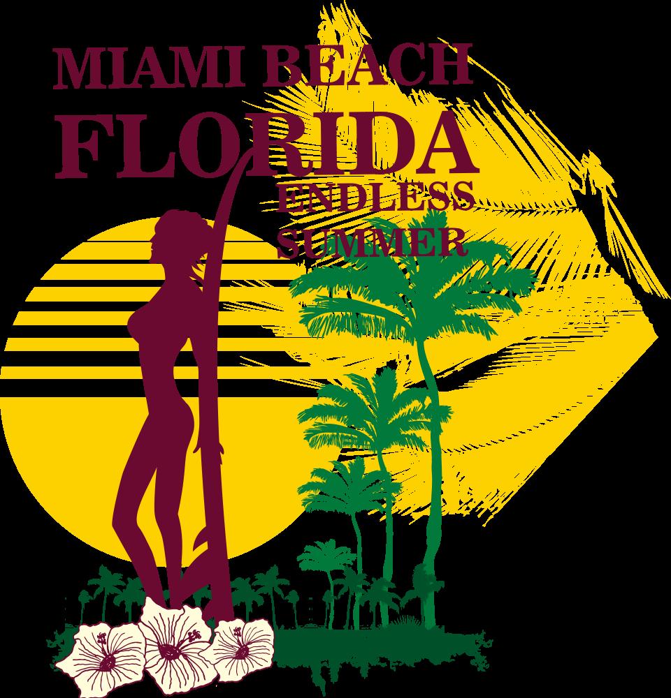 Florida clipart beach florida. South miami royalty free