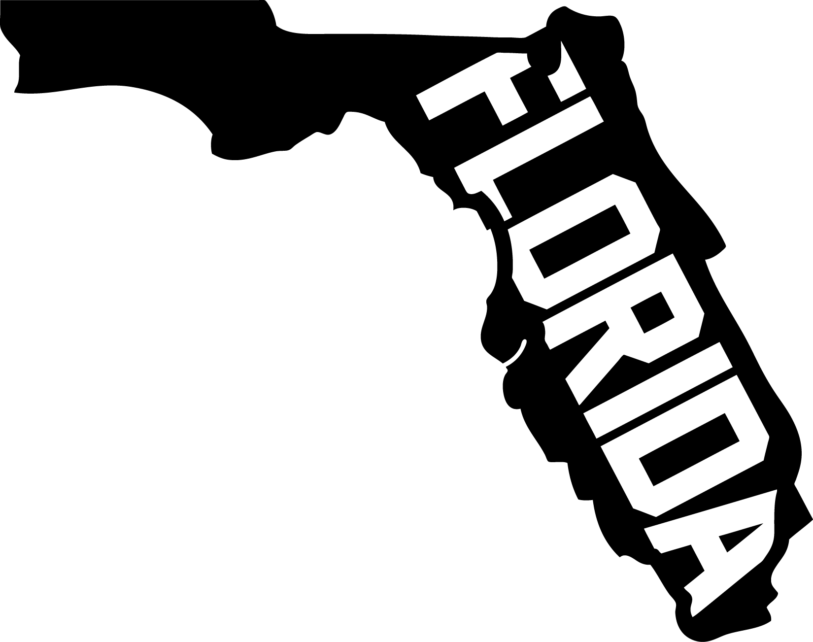 collection of state. Florida clipart black and white