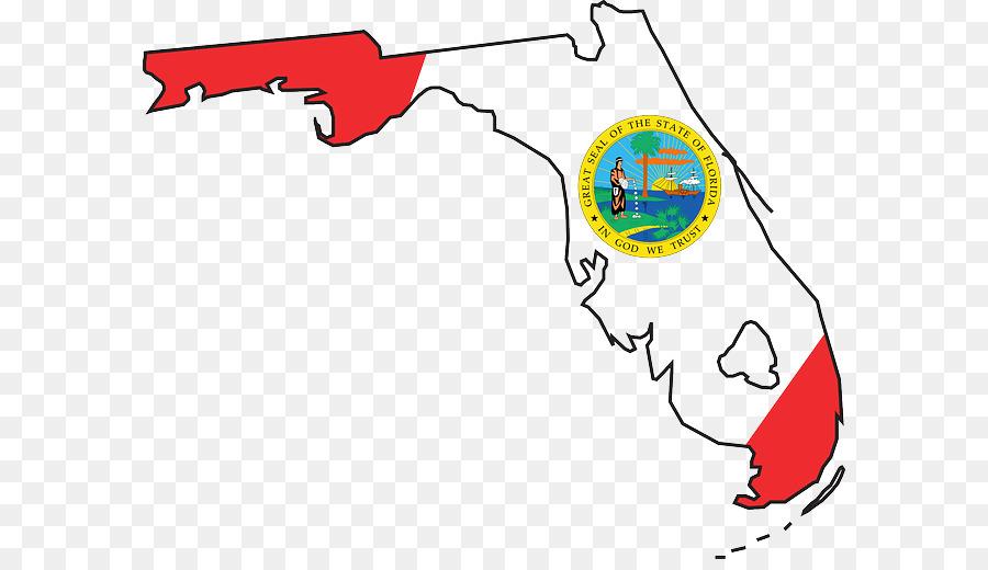 Flag map text transparent. Florida clipart cartoon