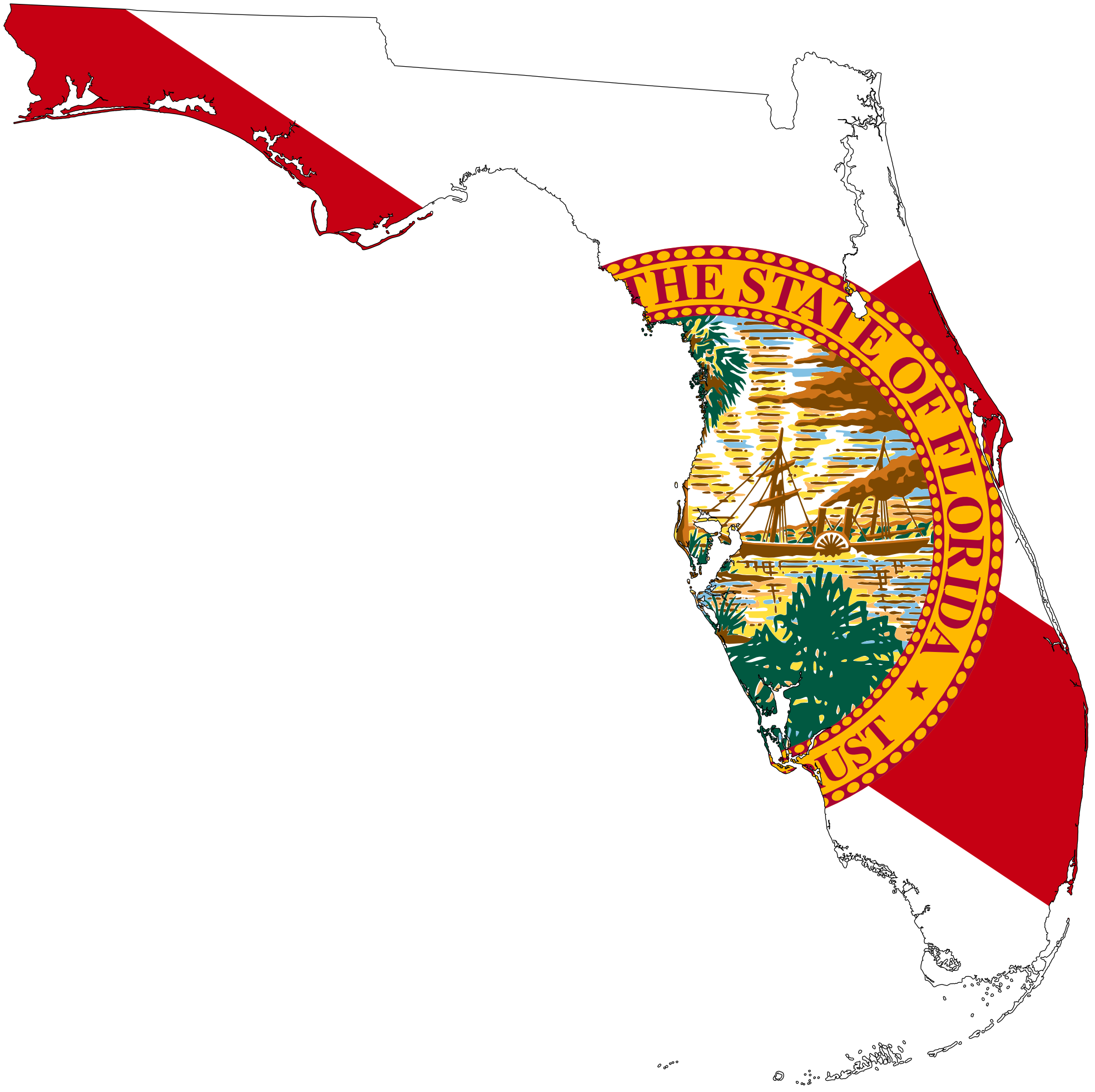 Fl image group png. Florida clipart colored