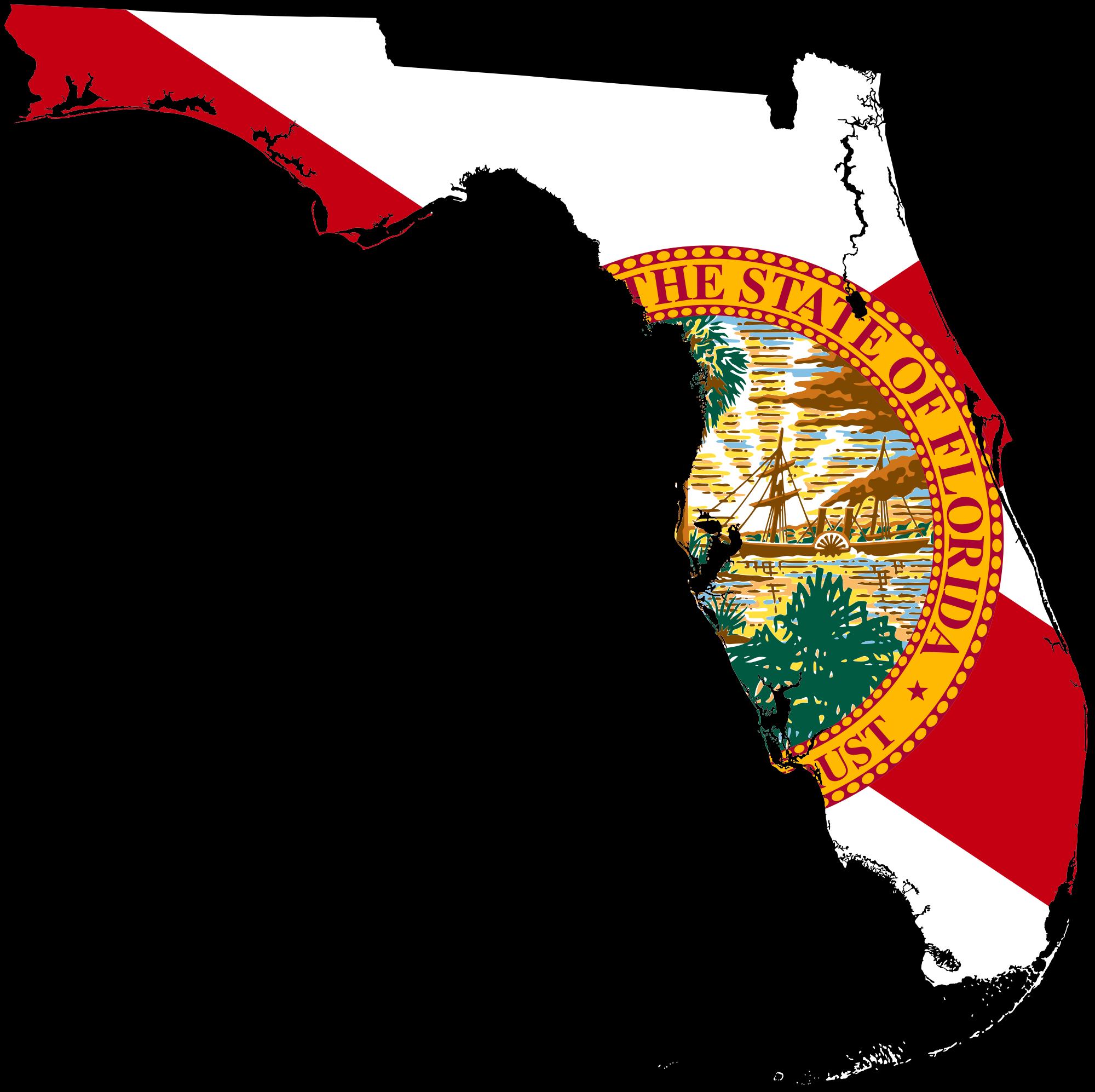 Florida clipart file. Flag map of svg