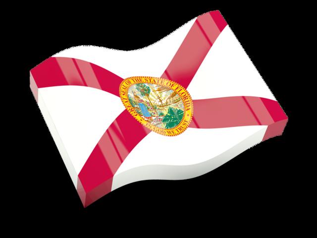 Glossy wave icon illustration. Florida clipart flag florida